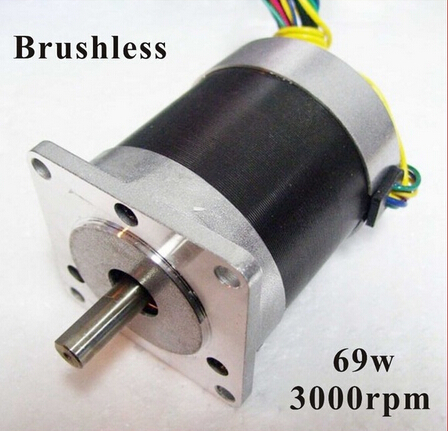 2pcs/lot 24V 57 Brushless DC Motor 69W 3000rpm nema 23 BLDC Motor 3Phase 30.6oz-in large stock reserved bldc motor 24v 3000rpm 3 pase brushless dc motor 69w 28oz in 57mm diameter