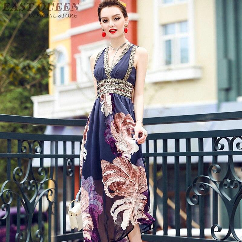 Dd336 Les Robes Longue Chic D'été Hippie Style Femmes Plage 1 Tablier Tunique Robe Pour 2 Floral Boho 6g6qHxwr