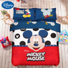 DISNEY Mickey Mouse Bedding Set Duvet Cover Sets single double Queen King Size minnie mickey Children bed set  Home textile