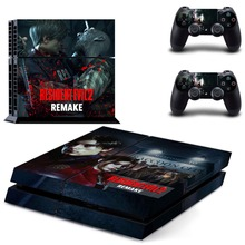 Game Resident Evil 2 PS4 Skin Sticker Decal Vinyl for Sony Playstation 4 Console and 2 Controllers PS4 Skin Sticker