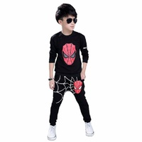 2 14 Years Spiderman Boy Spring Autumn Long Sleeve Sports 2 Pieces Set Tracksuits Kids Clothing