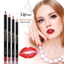 12 Color Matte Lipstick Lip Liner Pen Set Waterproof Long Lasting Make Up Red Lip Gloss Pencil Kits Nude Makeup Liquid Lip Stick цена