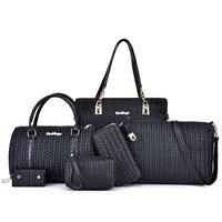 Luxury Women Handbag Shoulder Bags Fashion Nylon 6 Pieces Sets Composite Bags Large Capacity Tote Bag For Women Clutch