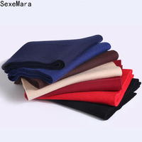 High Quality New Autumn Winter Cashmere Scarf Men S Business Scarves Thickening Solid Wool Scarves