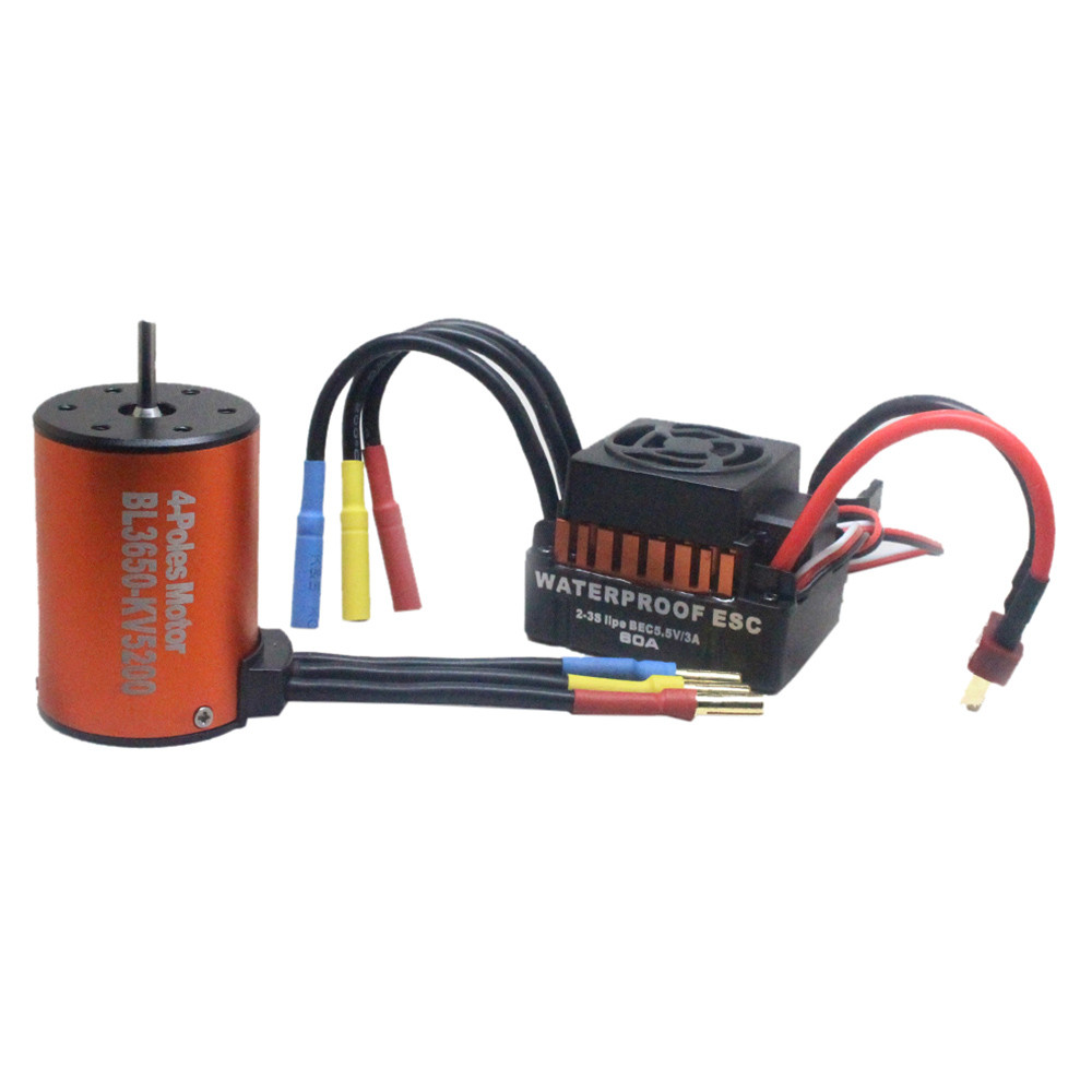 Motor RC Car RC Brushless Motor for 1//10 RC Car Boat 3650 5200KV