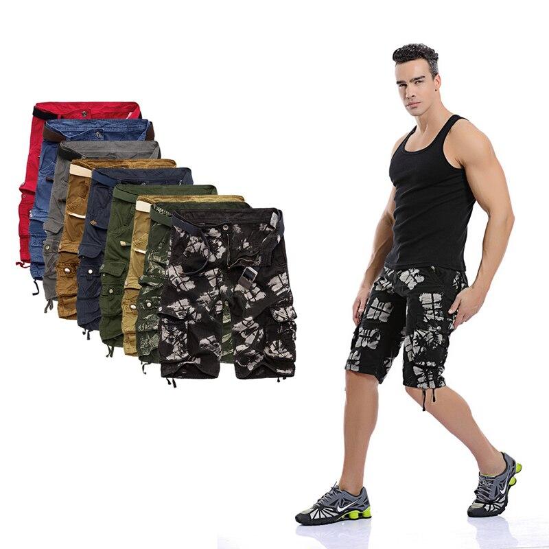 Camo Military   Shorts   Bermuda 2019 Summer Camouflage Cargo   Shorts   Men Cotton Loose Outwear Tactical   Short   Pants No Belt
