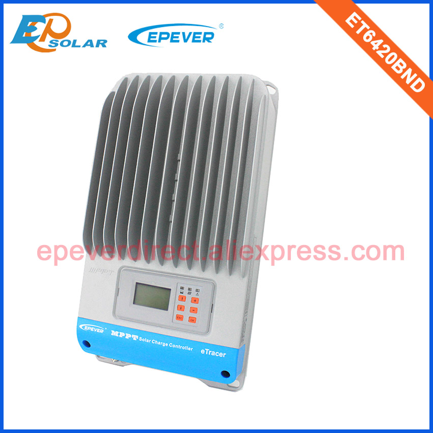 60A MPPT EPEVER Solar Charger battery controller ET6420BND 12V/24V/36V/48V work EPsolar Free Shipping Fedex 60amps vs6048au 48v battery charger work solar 60a controller pwm viewstar series 36v 24v auto work epever epsolar lcd display 60amps