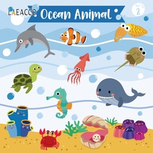 Laeacco Photographic Backgrounds Birthday Baby Shark Party Seabed Ocean Animals Shower Photography Backdrops For Photo Studio цена и фото