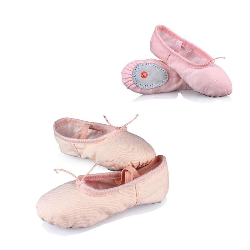 Professional Child Girls Kids Cotton Canvas Soft  Ballet Dance Practice Shoes