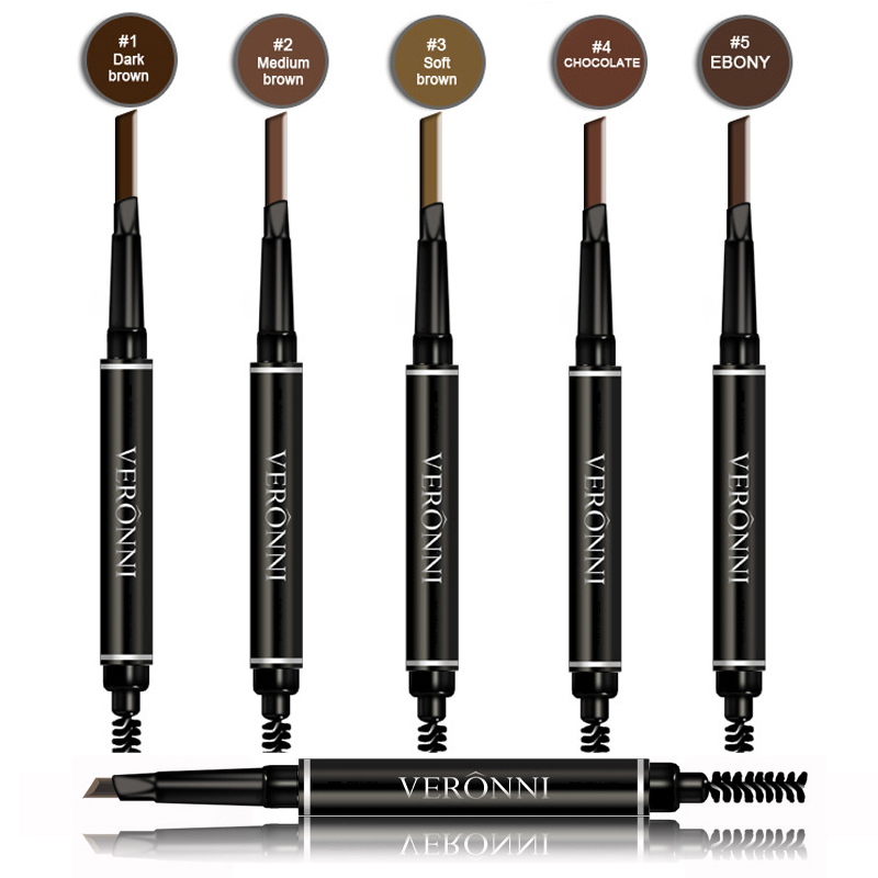 VERONNI New Arrival Eyebrow Enhancer Makeup Easy to Wear Waterproof Pigmented Black Brown Color Eyebrow Pencil Lot Make Up