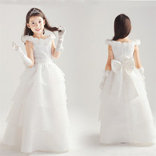 White Flower Girl Christening Dress Wedding Party Pageant Vestido Baby First Communion Gowns Children s Girl