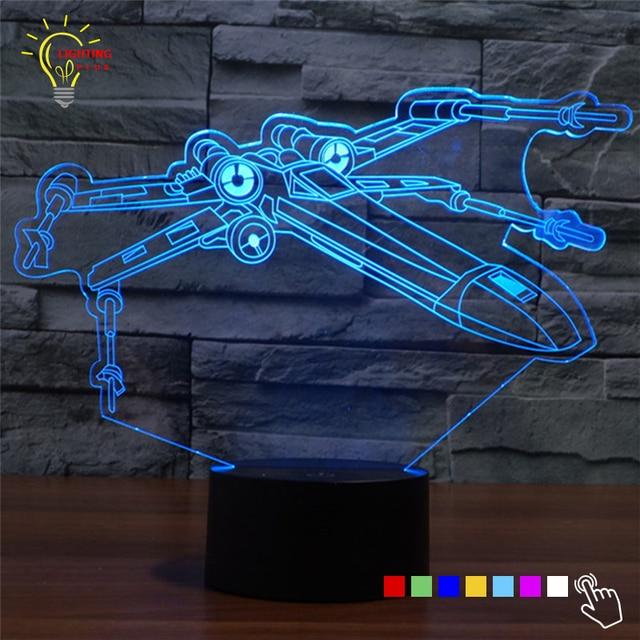 Neue 3d Nachtlicht Star Wars X Flugel Millennium Falcon Led Lampe