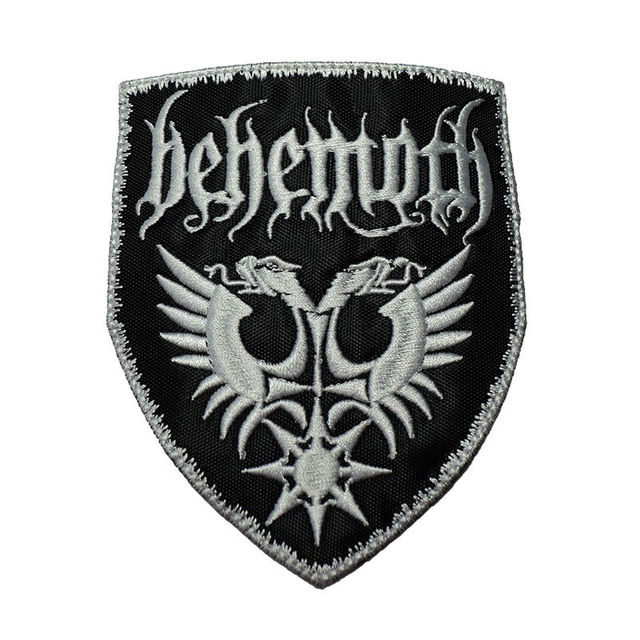 Behemoth hardcore rock band embroidered iron on badges patches for clothing cartoon motif applique sticker for
