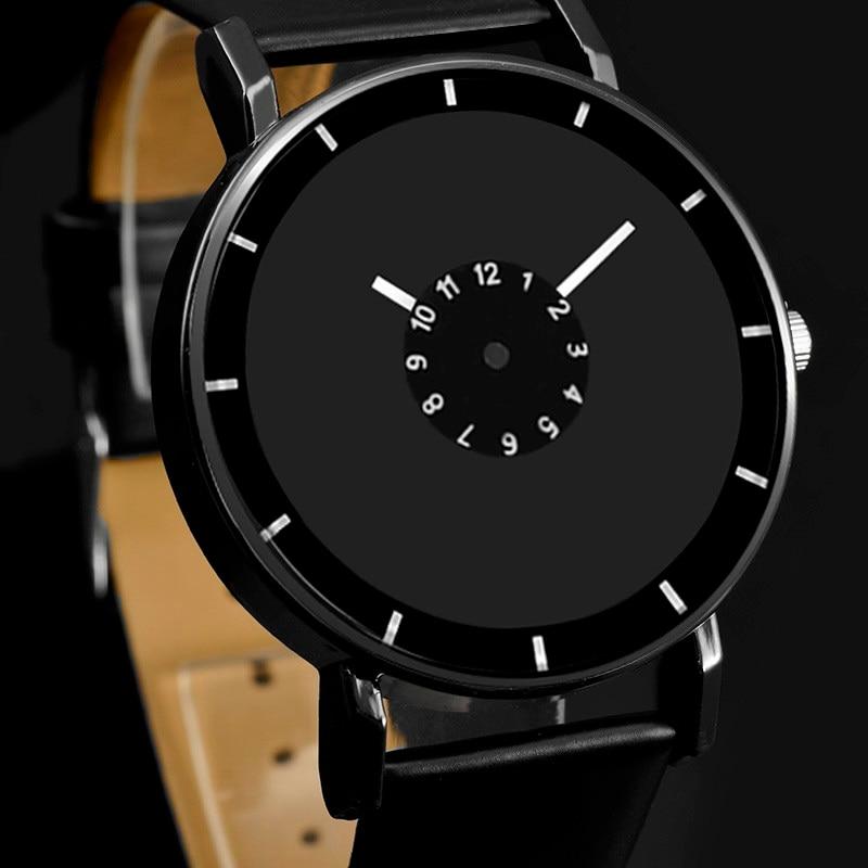 Relogio Feminino 2019 Hot Design Leather Strap Watch Elegant Quartz Wristwatch Women Clock Black & White Brief Watches