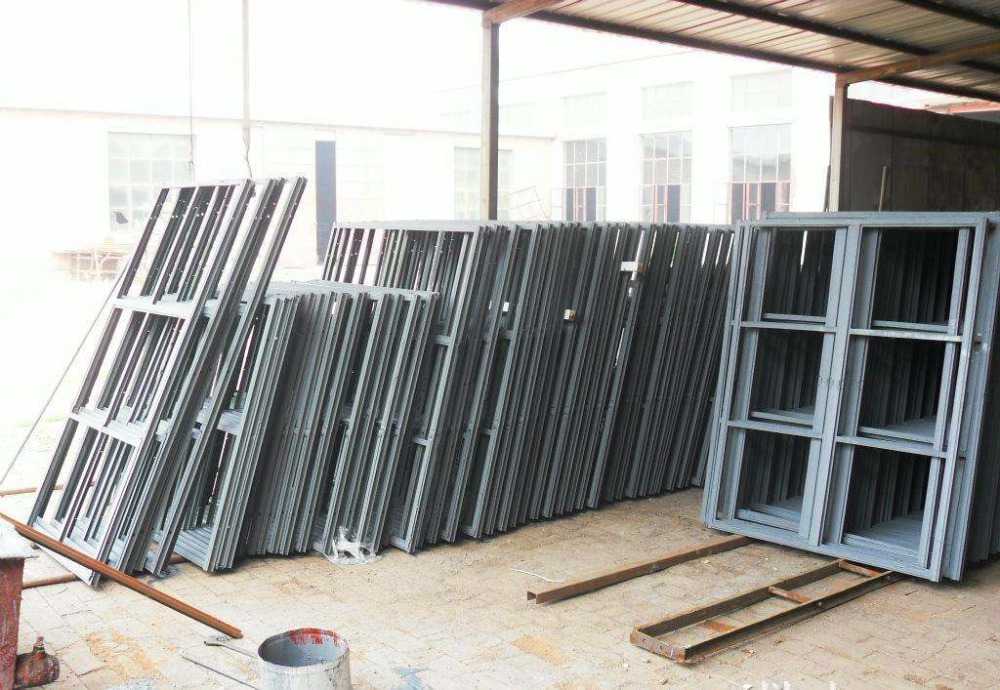 Glass Panel Exterior Door New Style Front Doors Residential Metal Door Frames Steel Frame Entry Door Black Steel Front Door