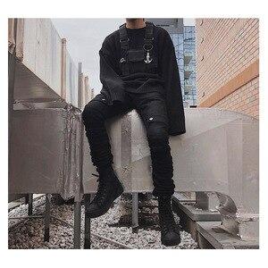Image 4 - מתכוונן שחור אפוד היפ הופ Streetwear תפקודי טקטי לרתום חזה Rig Kanye West חבילת מותניים חזה תיק אופנה ניילון c5