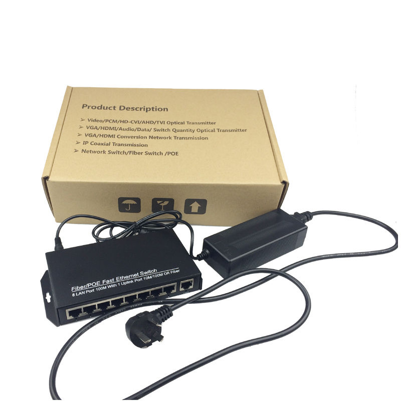 Jyttek 10/100Mbps 8 Ports & 1 Uplink PoE Switch For CCTV Network POE IP CamerasJyttek 10/100Mbps 8 Ports & 1 Uplink PoE Switch For CCTV Network POE IP Cameras