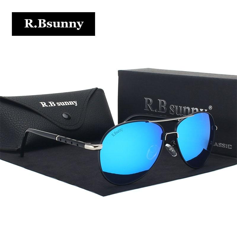 R.Bsunny New Brand fashion gepolariseerde zonnebril mannen Classic Retro Pilot Glasses Kleur Polaroid lenzen Rijden vrouwen zonnebrillen