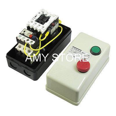 On Off Switch Enclosed 3 Pole Motor Magnetic Starter 380V Coil 5.5-8.5A starter motor magnetic switch qcx2 40