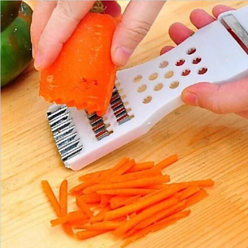 5 In 1 Buah Sayur Alat Pengiris Pemotong Sisi Multifungsi Handheld Pengupas Golok Pemain Dadu Gadget Dapur Alat