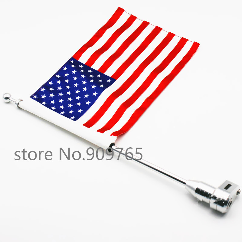 For 2001-2011 Honda Goldwing GL1800 GL1500 GL1200 Motorcycle American Flag Flag Pole Luggage Rack Mount motorcycle flag pole luggage rack vertical american for honda goldwing gl1800 2001 2011