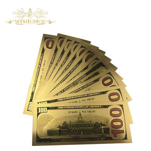 10 шт./лот новые банкноты Американский Трамп 100 доллар банкноты в 24K бумажные деньги для подарка