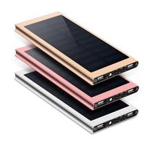 Portable Solar Power Bank 20000mah External Battery Dual USB