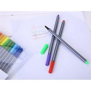 0,4 мм 24 цвета ручки для подводки с книгой-раскраской Марко супер тонкая цветная ручка для рисования художественная маркерная ручка чернила на водной основе
