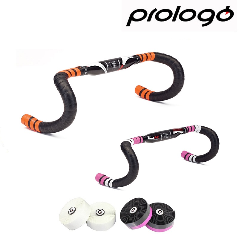 Prologo Original One Touch 2 U TAPE Silicon Gel Bicycle Handlebar Tape Road Bike Grip Tape Cycling Bar End Grip Bandage bicycle cork handlebar tape wrap with bar plugs blue black
