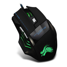 Newest Hot X8 Professional Wired USB Mouse 6 Button 5500DPI Cool Color Lamp Gamer Computer Office