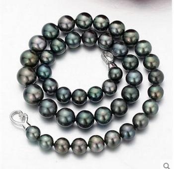 fb9a3d1fdf23 Collar de perlas blancas de 10-11mm 925 perlas de agua dulce de ...