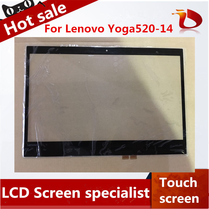 Brand New A+ original laptop touch 14 inch For lenovo Yoga520-14 Digitizer Touch Screen Glass Repair Replacement ноутбук hp 15 aс113ur