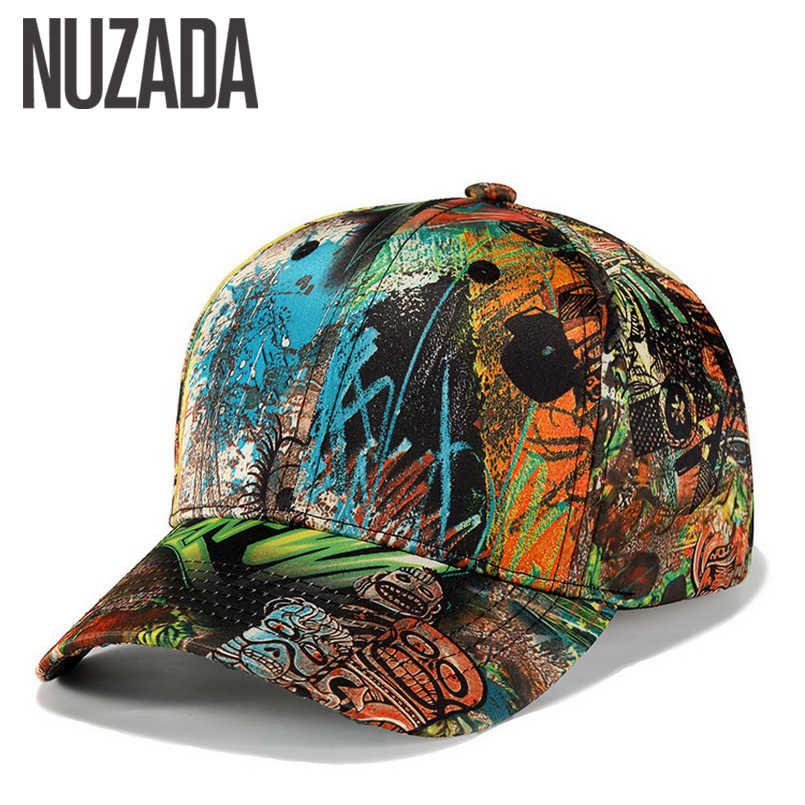 a77018f57f0 Brand NUZADA Unique 3D Printing Spring Summer Autumn Men Women Couple Baseball  Cap Cotton Street Art