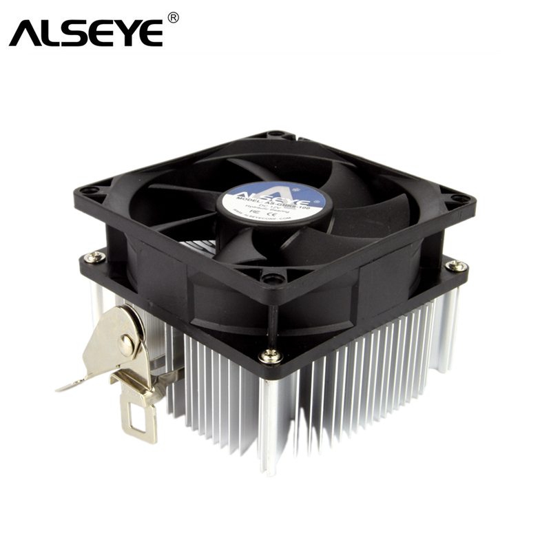 ALSEYE CPU Cooler <font><b>80mm</b></font> <font><b>Fan</b></font> Heatsink TDP 95W CPU <font><b>Fan</b></font> FM1/FM2/AM4/AM2/AM2+/AM3 Cooler image
