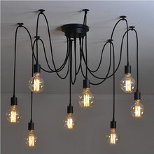Lámpara de techo de 8 brazos, candelabro de araña de techo clásico, Ajustable, artesanal, colgante Retro, para comedor, dormitorio y Hotel