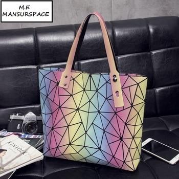 DVODVO  Women Tote Bags BAO  BAO Fold  Diamond Iridescent Handbag PU Leather High Quality Laser Geometric Designer Handbags tote bag