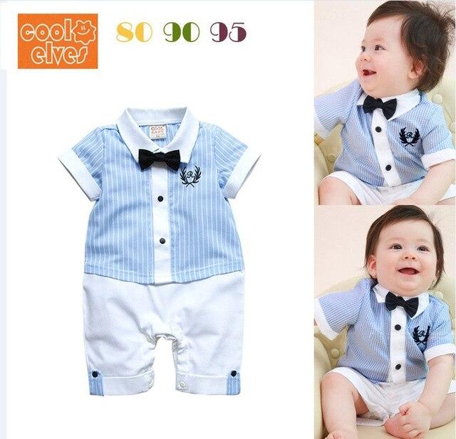 2016 мода летом младенческой мальчик комплект одежды