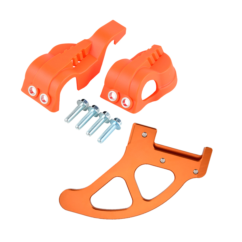 WP Fork Leg Shoe Guard Cover Rear Brake Disc Protector for KTM EXC SX SXF XC