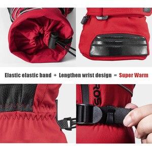 Image 5 - ROCKBROS gants de moto imperméable thermique pour hommes et femmes, pour Snowboard, pour neige