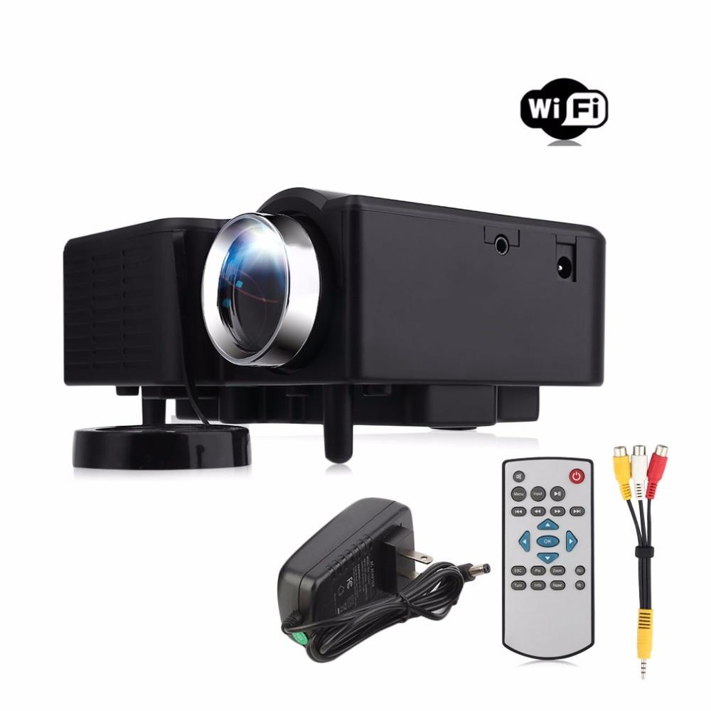 ФОТО Low Power PRO Mini VGA/USB/SD/AV/HDMI Portable Mini Digitale LED Entertainment LCD Projector for Home Cinema Theater