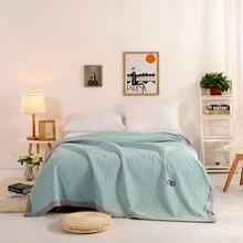 Simple azul Edredones, Sólido Verano Edredón, Edredón Suave Y Sorprendente/Acondicionado Quilts, 150*200 cm 200*230 cm Superventas