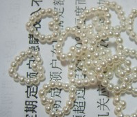 1000pcs/lot 11mm ivory Pearl Bead hollow heart Shaped Wedding Cards craft wa015