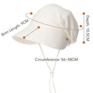 Image 3 - FANCET נשים קיץ שמש כובע מגן פשתן דלי כובעי Packable Wide ברים UPF50 + UB כובע Windproof סנטר רצועת אופנה 89033