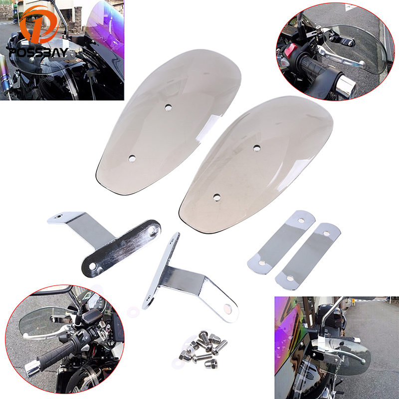 POSSBAY Motocross Handguard Hand Guard Motorcycle Guard Windshield Scooter Windscreen Protector Wind Deflector For Harley 883