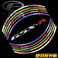 """New 17""""  Fluorescent Motorcycle Motorbike Wheel Rim Stripe Tape Sticker for Suzuki GSXR 5 Colors"""