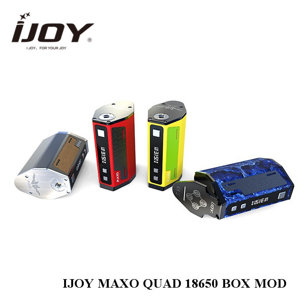 Clearance!!! Original 315W IJOY MAXO QUAD 18650 TC BOX MOD Electronic Cigarette Firmware Upgradable Vape Box Mod