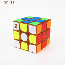 Newest Zcube 3x3x3 Profissional Magic Cube Yellow light Transparent Glow Competition Speed Puzzle Cubes cubo Pattern Stickers
