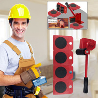 Durable Furniture Moving System With Lifter Tool And 4 Wheels Furniture Moving Heavy Stuffs Moving Tool