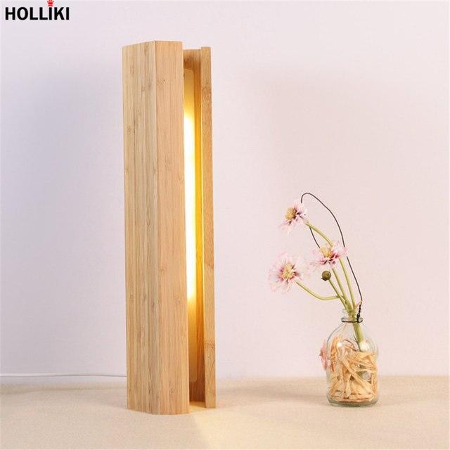 LED Wood Desk Table Lamp Modern Minimalist Design Energy Saving Reading Dimmer Lamps for Office Bedroom Decor Luminaria De Mesa