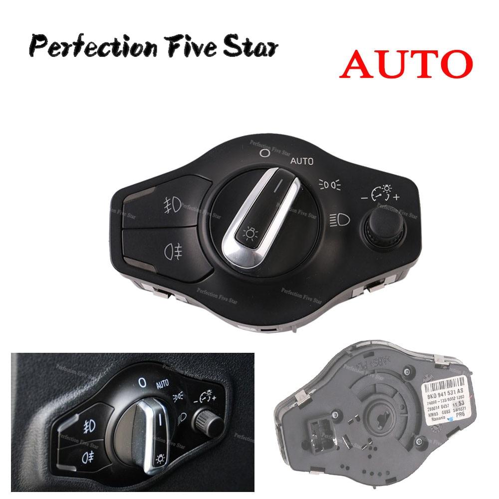 8K0941531AS для Audi A4 2009-2014 B8 S4 A5 S5 Q5 2009 2010 20011 2012 2013 2014 хромированный подвесной светильник, противотуманный светильник, переключатель управления